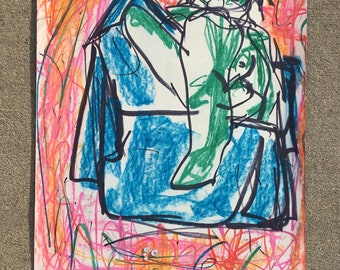 "ORIGINAL Tyler Rietz Drawing ""Lazy Day"""