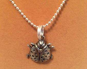Ladybug charm necklace