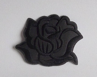 Black Rose//Flower Patch Iron On Lot Of 4 New