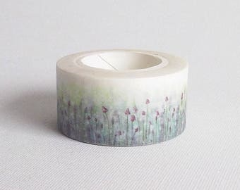 Blue washi tape, Floral washi tape, Blue flwoers washi paper tape, Washi masking tape, Blue masking tape, Flower washi tape, Cute washi tape