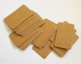 50 mini kraft price tags Favor tag weding decoration jewelry tag Handmade gift card