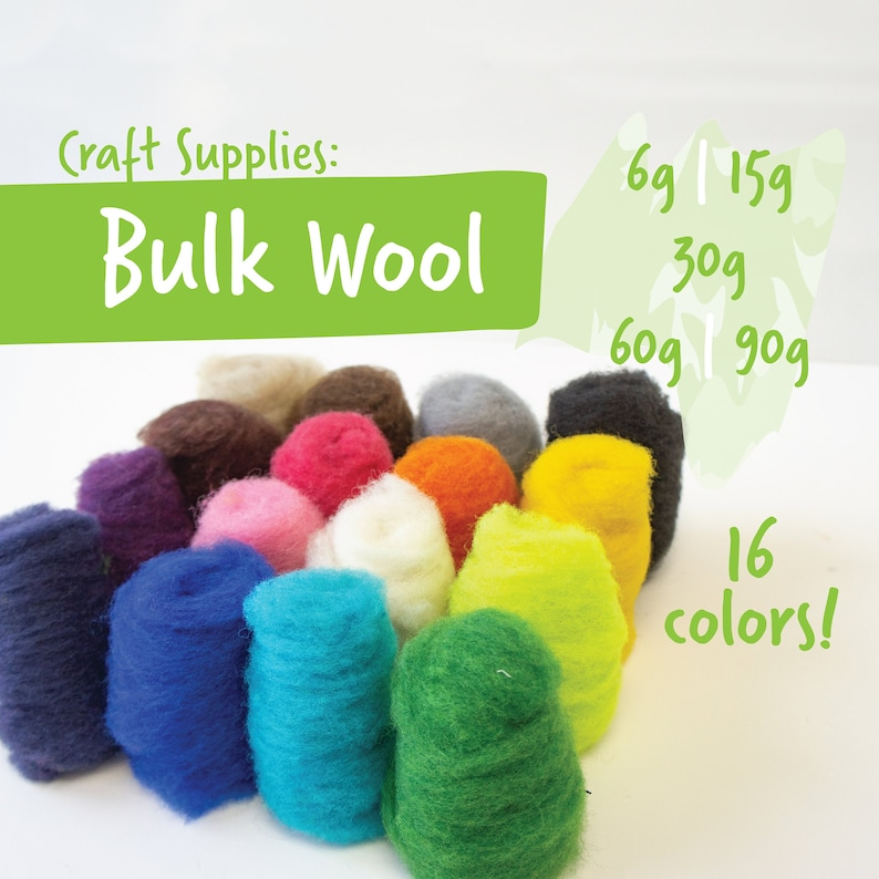 Wool by the gram / ounce 16 vibrant colors 6g 15g 1oz   Etsy