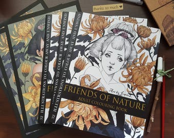 Friends of Nature Adult Colouring E-Book PDF Version
