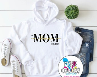 name Childrens Sweater Top Cute Personalised name childrens hooded sweatshirt personalised