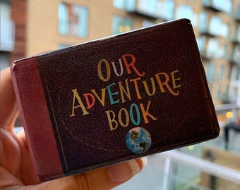Our Adventure Book Wedding Ring Box • Personalised Engagement RingBox • DISCONTINUED