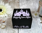 Wedding Ring Box |  Personalised Fairytale Castle Happily Ever After RingBox