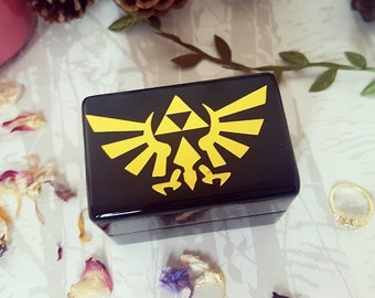 247bc5b9bc9a6 Zelda Triforce Luxury Wedding Ring Box • Double Ring Box • Legend Of Zelda  Inspired Engagement Ring Box • Proposal Ring Box