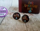 Cufflinks • Our Adventure Cufflinks Set • Wedding Cufflinks • Our Adventure Book