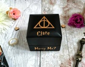 Always Engagement Ring Box • Proposal Ring Box • Wizard Wedding • Matte Black • Personalised Wedding Bride To Be