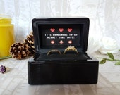 Personalised Wedding Ring Box Zelda Triforce • Double Ring Box • Personalized Engagement Ring Box • Proposal Ring Box