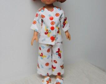 vetement poupée 30 cm pyjama et pantoufles compatibles pour les chéries de Corolle pour les Little Darling ou les Paola Reina fait main