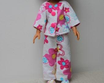vetement poupée 30 cm pyjama et chaussons compatibles pour les chéries de Corolle pour les Little Darling ou les Paola Reina fait main