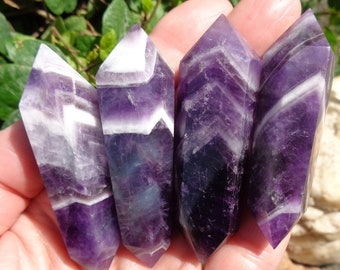 Chevron Amethyst Double Terminated Point - Choose One