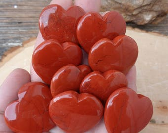 "Red Jasper Heart (One) - 1.2"" (30mm)"