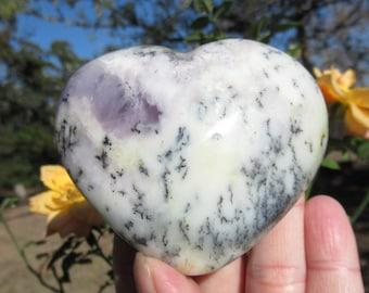 Purple Japanese Cabochons Glass Heart 17mm Vintage Opal