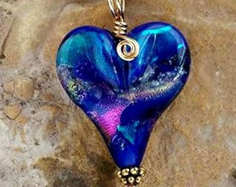 All My Love Memorial Heart Necklace, Ashes in Glass,Cremation Jewelry, Pet Memorials