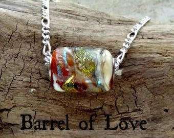 Barrel of Love Memorial Necklace in Silver, Ashes in Glass, Cremation Jewelry, Pet Memorials