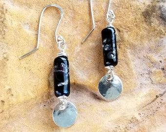 Trillium Serenity Memorial Earrings, Ashes in Glass, Cremation Jewelry, Pet Memorial