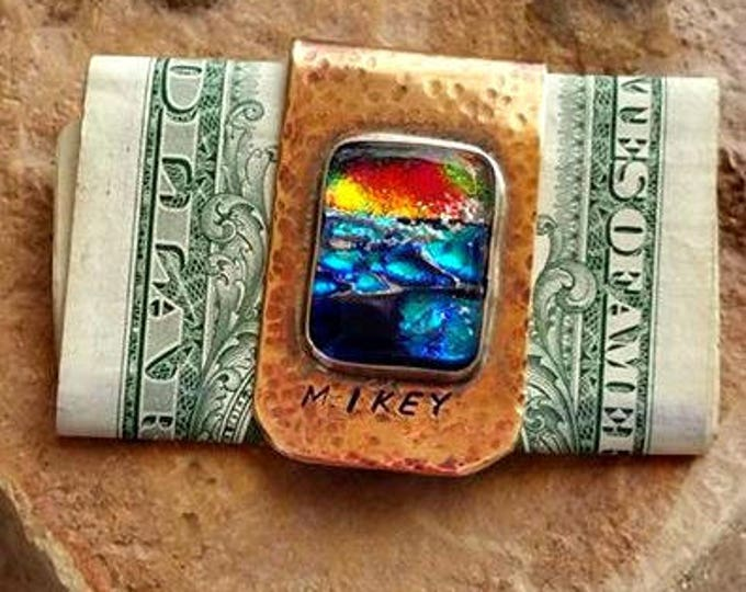 Back in Time Memorial Money Clip, Ashes in Glass, Memorial Gifts for Guys, Pet Memorial