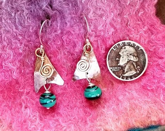 Beam Me Up Memorial Earrings, Ashes in Glass, Cremation Jewelry, Pet Memorials