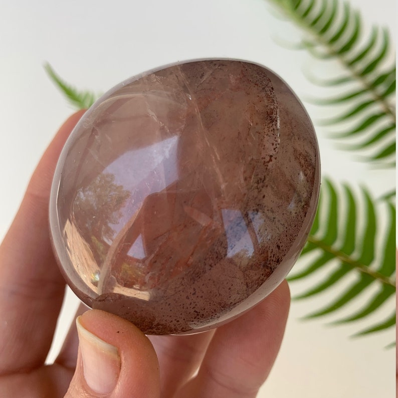 Crimson Healer Palm Stone Natural HP10 Hematoid Quartz