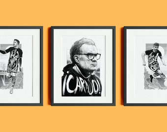 Leeds United Heroes Limited Edition Signed Triptych