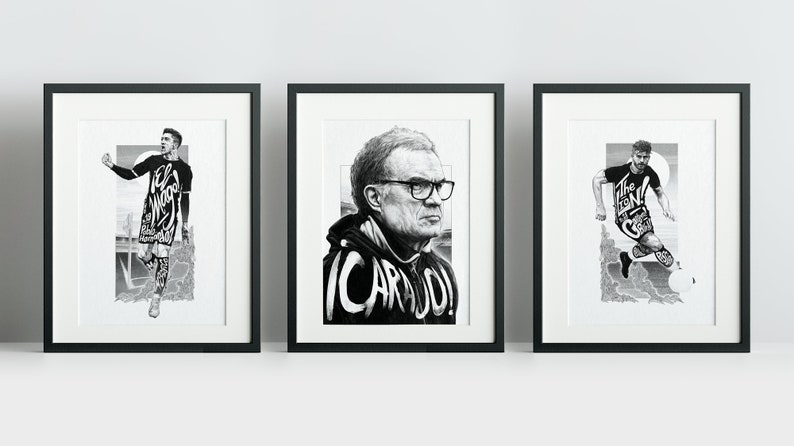 Leeds United Heroes Triptych image 0