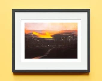 Elland Road Landscape - Cover Art Variant - Limited Edition Signed Print