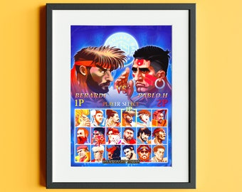 Leeds United X Street Fighter Limited Edition Signed Print
