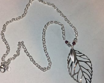 """For woman """"Silver leaves and their renaissance pearls"""" necklace"""