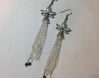 """Earrings """"Angel and her chained pearls"""""""