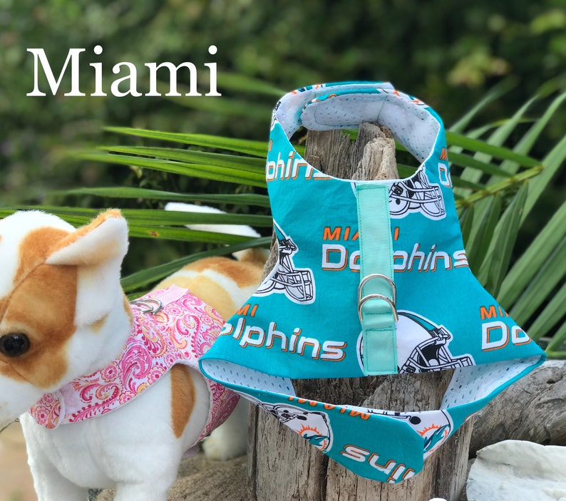 Top Miami Dolphins Dog Harness | Etsy  free shipping