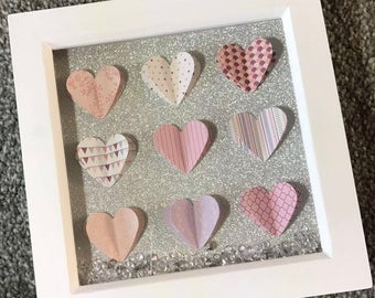 Mini 3D Heart Box Frame
