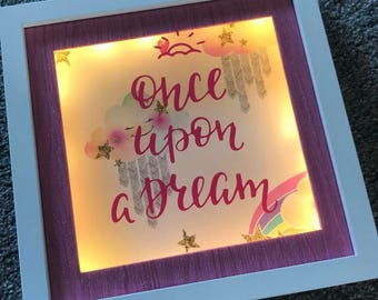 Once Upon A Dream Box Frame - Childrens Gift - Home Decor