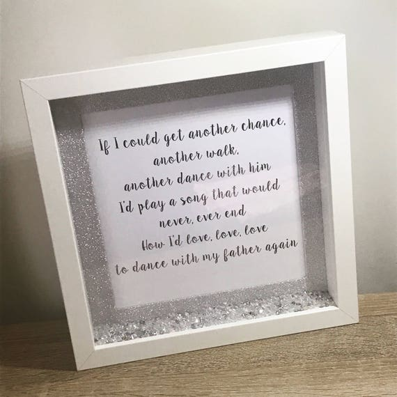 Dance With My Father Song Lyrics Box Frame Gift Lyrics | Etsy