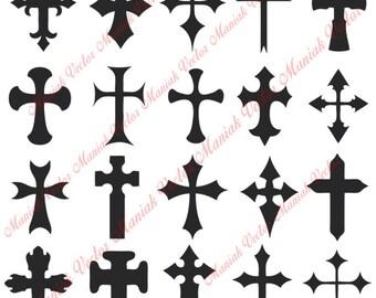 Cross Svg Silhouette Files Christian Cut File Vector