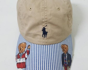 Custom Polo Bear Ralph Lauren Strapback Hat Cap 9df5ad34cb1