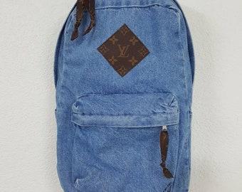 e5b4a1181f6e Louis Vuitton Backpack Custom Denim LV