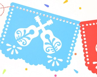 Mexican Plastic Papel Picado for Taco Bar Taco BAR Designs /& Colors as Pictured by Paper Full of Wishes