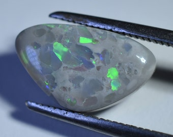 Black Opal # 245 Solid 2.75 Carats  From Lightning Ridge Australia Long Pear