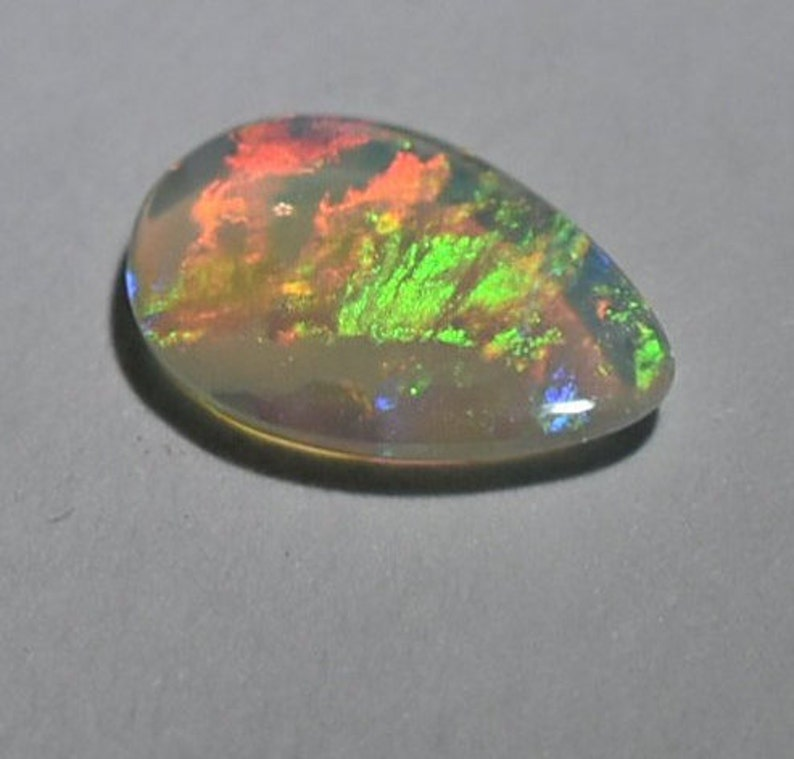 Australian Crystal Opal #284 from Lightning Ridge Solid 0.33 ct bright colourful teardrop beautiful for a ring or unique birthday gift
