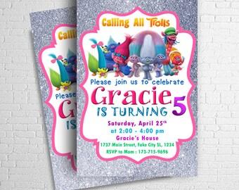 Trolls Invitation Birthday Party Printables