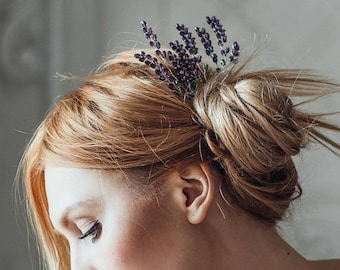 Wedding hair pins | Wedding hair piece | Bridal hair pin | Bridal hair accessories Set 3 pins | Flower hairpins wedding | Lavender hairpins