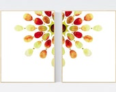 Set of 2 Watercolor Abstract art