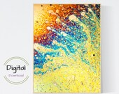 Crazy Paint Pour Wall Art. Printable Wall Art..