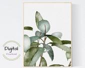 Botanical leaves Wall Art. Botanical Art Print