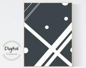 Geometric Abstract Wall Art. Printable wall art.