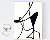 Simple Line Art. Printable abstract Art.