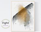 Abstract Watercolor Art. Printable wall art.