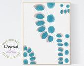 Watercolor dots abstract Art. Printable wall art